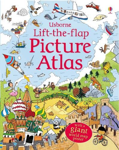 Lift-the-Flap Picture Atlas - See Inside (Board book)