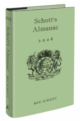 Schott's Almanac 2008 (Hardback)