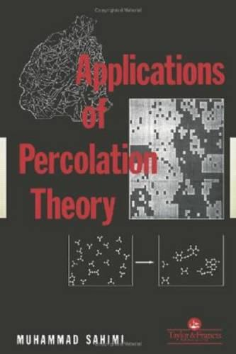 Applications Of Percolation Theory (Paperback)