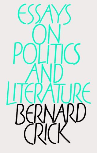 Essays on Politics and Literature (Hardback)