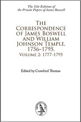 Correspondence of James Boswell 1756-1795 (Hardback)