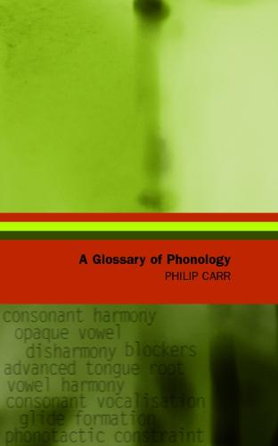 A Glossary of Phonology - Glossaries in Linguistics (Paperback)