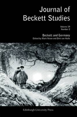 Beckett and Germany - Journal of Beckett Studies v. 19, no. 2 (Paperback)