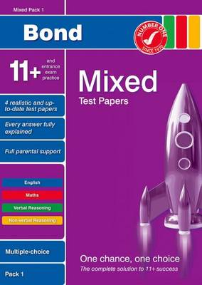 Bond 11+ Test Papers Mixed Pack 1 Multiple Choice (Paperback)