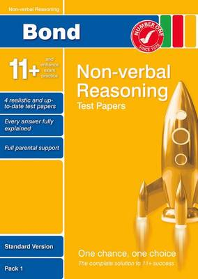 Bond 11+ Test Papers Non-Verbal Reasoning Standard Pack 1 (Paperback)