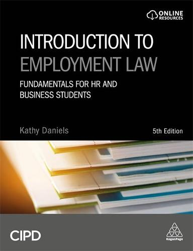Introduction to Employment Law: Fundamentals for HR and Business Students (Hardback)