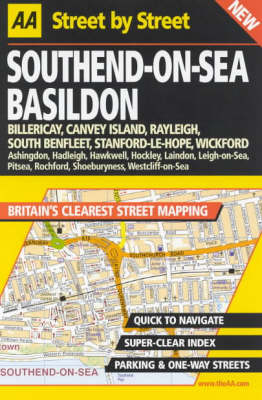 AA Street by Street Southend-on-Sea, Basildon - AA Street by Street (Paperback)