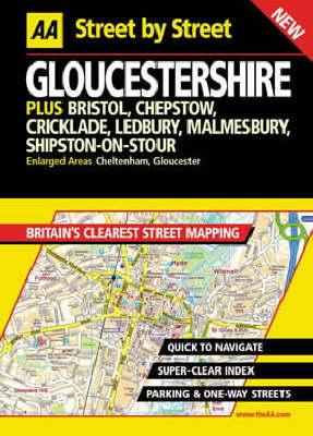 AA Street by Street Gloucestershire - AA Street by Street (Hardback)