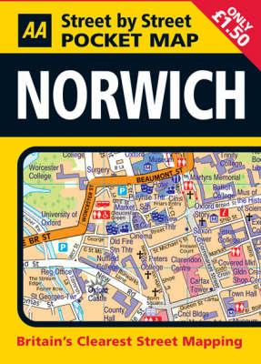 Pocket Map Norwich - AA Street by Street (Sheet map)