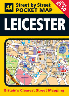 Pocket Map Leicester - AA Street by Street (Paperback)