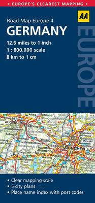 Germany: No. 4: AA Road Maps Europe (Sheet map, folded)