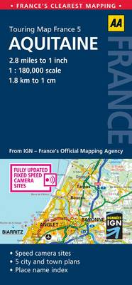 Aquitaine: No. 5: AA Touring Map France (Sheet map, folded)