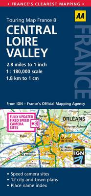 Central Loire Valley: No. 8: AA Touring Map France (Sheet map, folded)