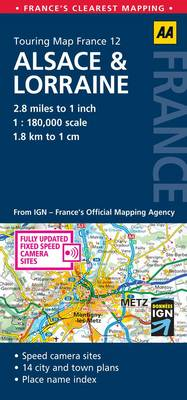 Alsace and Lorraine: No. 12: AA Touring Map France (Sheet map, folded)