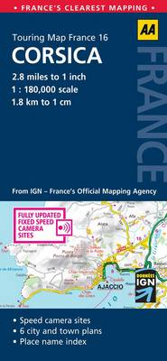 Corsica: No. 16: AA Touring Map France (Sheet map, folded)