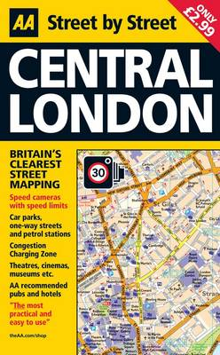 Easy London Map.Aa Central London Map By Aa Publishing Waterstones