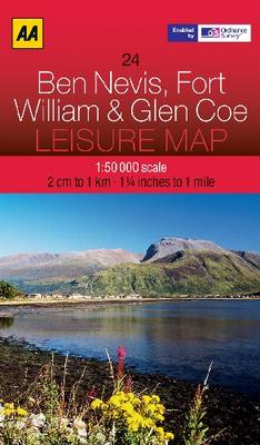 Ben Nevis, Fort William and Glen Coe - AA Leisure Maps 24 (Sheet map, folded)