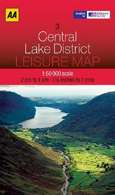 Central Lake District - AA Leisure Maps 3 (Sheet map, folded)