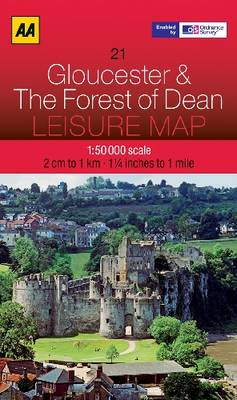 Gloucester and The Forest of Dean - AA Leisure Maps 21 (Sheet map, folded)