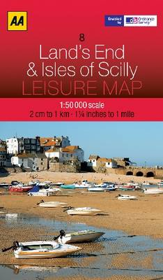 Lands End and The Isles of Scilly - AA Leisure Maps 8 (Sheet map, folded)