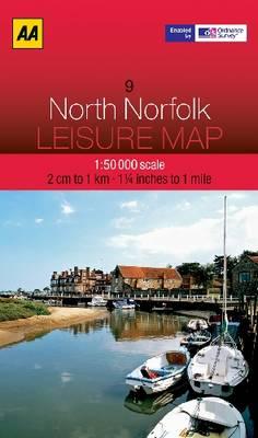North Norfolk - AA Leisure Maps 9 (Sheet map, folded)