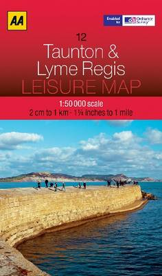 Taunton and Lyme Regis - AA Leisure Maps 12 (Sheet map, folded)