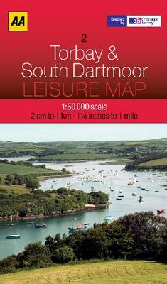Torbay and South Dartmoor - AA Leisure Maps 2 (Sheet map, folded)