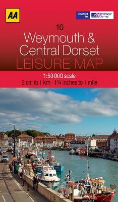 Weymouth and Central Dorset - AA Leisure Maps 10 (Sheet map, folded)