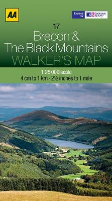 Brecon & The Black Mountains - Walker's Map (Sheet map, folded)