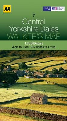 Central Yorkshire Dales - Walker's Map (Sheet map, folded)