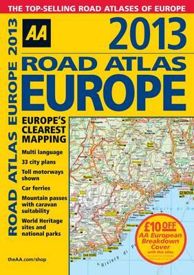 AA Road Atlas Europe 2013 (Paperback)