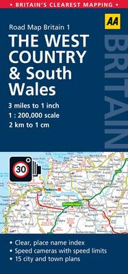 1. West Country & South Wales: AA Road Map Britain (Sheet map, folded)