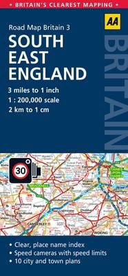 3. South East England: AA Road Map Britain (Sheet map, folded)