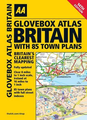 AA Glovebox Atlas Britain with 85 Town Plans (Spiral bound)