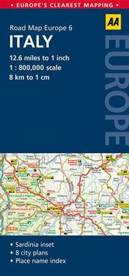6. Italy: AA Road Map Europe (Sheet map, folded)