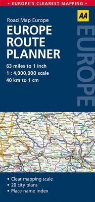 Europe Route Planner: AA Road Map Europe (Sheet map, folded)
