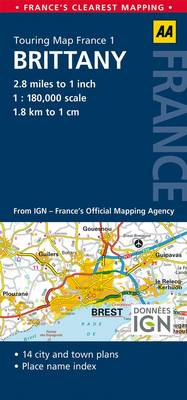 1. Brittany: AA Road Map France (Sheet map, folded)