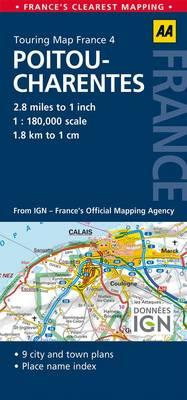 4. Pitou-Charentes: AA Road Map France (Sheet map, folded)