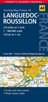 10. Languedoc-Roussillon: AA Road Map France (Sheet map, folded)