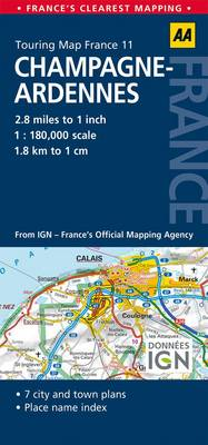 11. Champagne-Ardennes: AA Road Map France (Sheet map, folded)