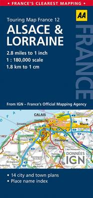 12. Alsace & Lorraine: AA Road Map France (Sheet map, folded)