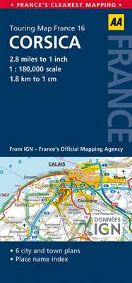 16. Corsica: AA Road Map France (Sheet map, folded)