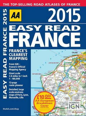 AA Easy Read France 2015 (Paperback)