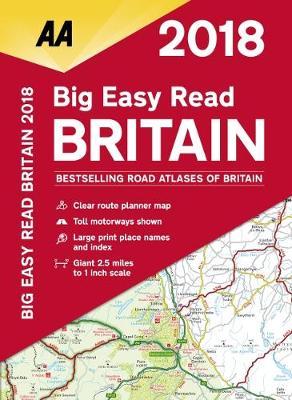 AA Big Easy Read Atlas Britain 2018 (Spiral bound)