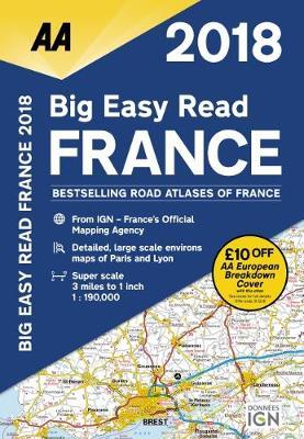 AA Big Easy Read Atlas France 2018 (Spiral bound)
