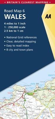 Wales - AA Road Map Britain 6 (Sheet map, folded)