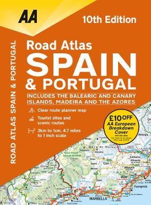 AA Road Atlas Spain & Portugal (Spiral bound)