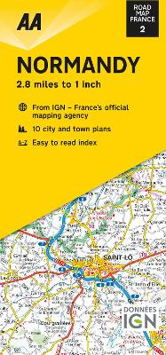Road Map Normandy - Road Map France 2 (Sheet map, folded)