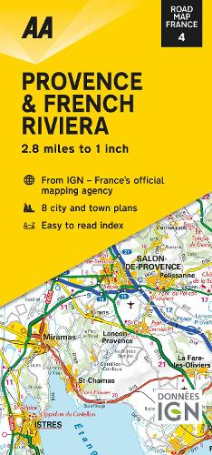 Road Map Provence & French Riviera - Road Map France 4 (Sheet map, folded)