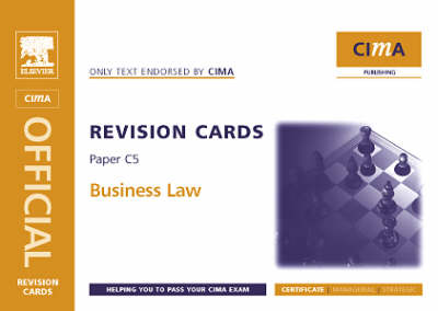 Business Law: Certificate Level Paper C5 - CIMA Revision Cards (Spiral bound)